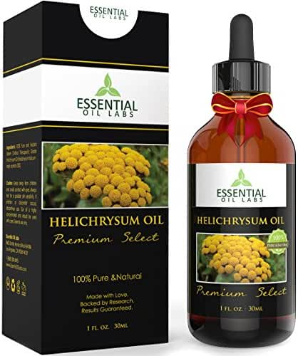 Helichrysum Oil - Therapeutic Grade Neryl Acetate 32% - 1fl oz with Glass Dropper - Premium Select from Essential Oil Labs