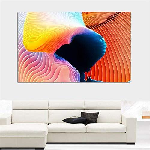 抽象印刷油絵スパイラルカラフルな壁アートキャンバスプリント写真用リビングルームと寝室50×70センチなしフレーム