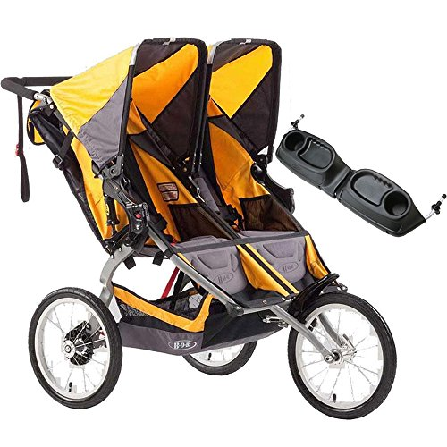 BOB Ironman Duallie Double Stroller with a diaper bag Yellow