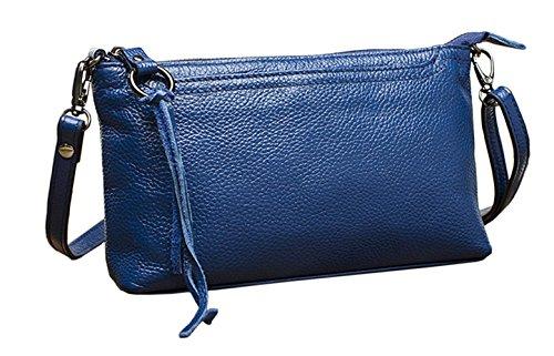 Bags SAIERLONG Designer Body Shoulder Cross Womens Blue Blue Leather fRTqwORx