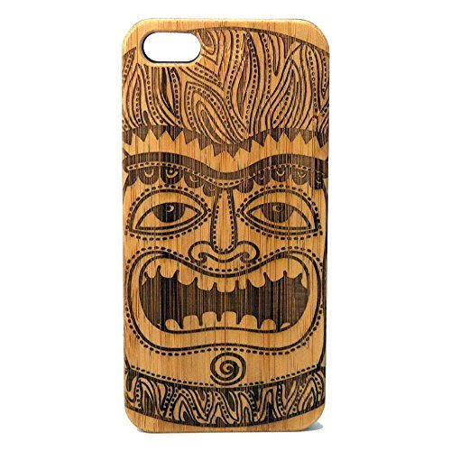 Tiki Idol Case for iPhone 8 Plus | iMakeTheCase Eco-Friendly Bamboo Wood Cover | Maori Mythology Polynesian Tiki -