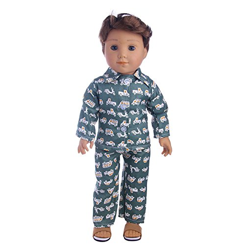 Aimee Doll Clothes Pajamas Top + Sleeping Pants Fits 18