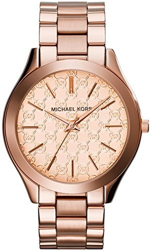 Michael Kors Women's 'Runway' Quartz Stainless Steel Watch, Color Rose Gold-Toned (Model: MK3336)