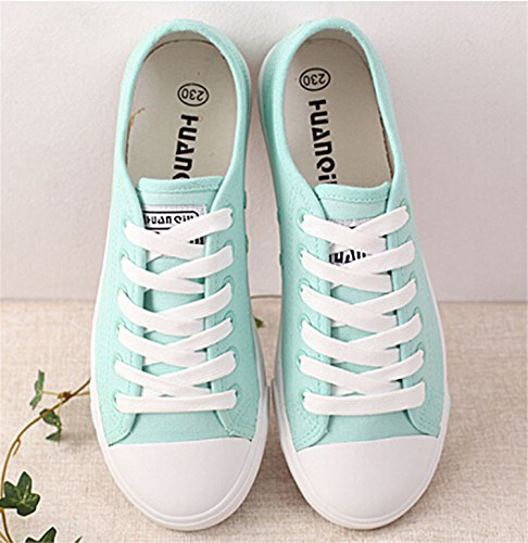 Lace Shoes Flats Cute White Spring New Up Canvas Black Candy Colors Casual Shoes Women Ladies waOIUqZ
