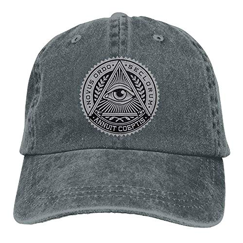 (Illuminati Adult Cowboy Hat Baseball Cap Adjustable Athletic Custom Printed New Hat for Men and Women )