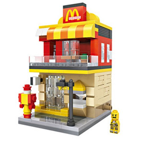 1 Box Diamond Block Building Mcdonalds Building Stacked Toys Blocks Parent Child Games Childrens Educational Toys
