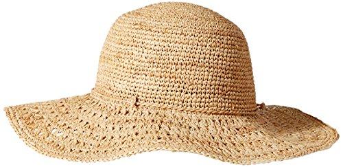 Karen Kane Women's Raffia Packable Floppy Hat, Honey, One Size