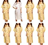 Avidlove Women's Bridesmaid Modern Peacock Kimono Robe Long Style 8 Packs