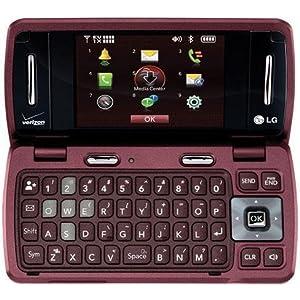 Verizon LG enV3 VX9200 No Contract 3G QWERTY MP3 Camera Cell Phone Red