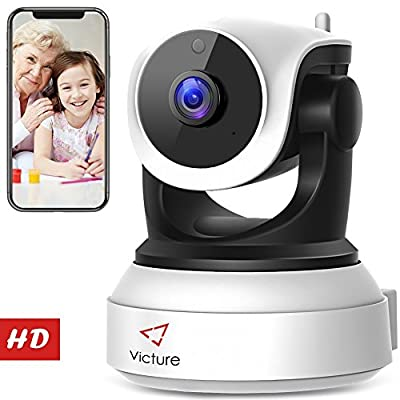 Victure WiFi IP Camera 720P HD Wireless Indoor Home Security Surveillance Camera with Night Vision Motion Detection Playback 2-Way Audio Dome Home Monitor for Baby Elder Pet Pan/Tilt/Zoom by victure