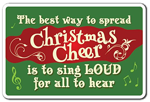 CHRISTMAS CHEER Sign christmas song season holiday merry carol | Indoor/Outdoor | 12