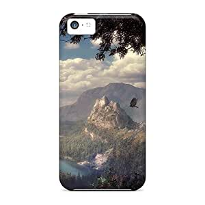Fashion Protective Mystical Land Case Cover For Iphone 5c
