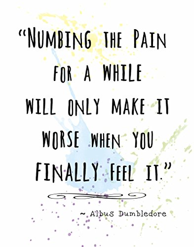 Wall Art Print by ArtDash ~ Albus Dumbledore Inspirational Quotes: 8 ?10, 'Numbing the