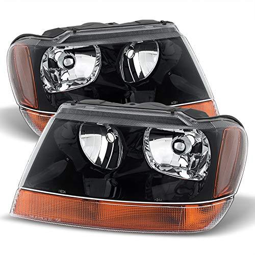 ACANII - For 1999-2004 Jeep Grand Cherokee Laredo/Sport Model Style Headlights Headlamps Driver + Passenger Side