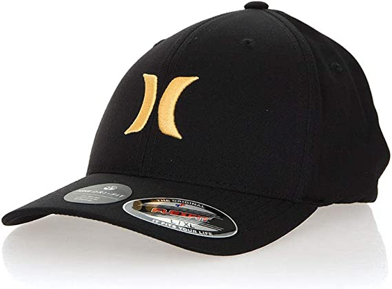 Hurley Gorra Flexfit para Hombre Dri-Fit One & Only Negro Amarillo ...