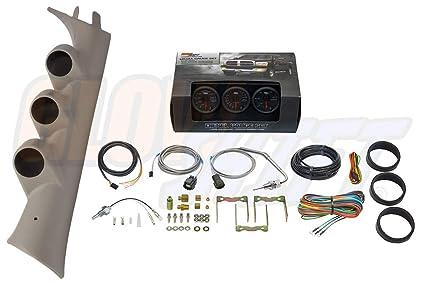 glowshift diesel gauge package for 2007-2013 chevrolet silverado duramax & gmc  sierra - black