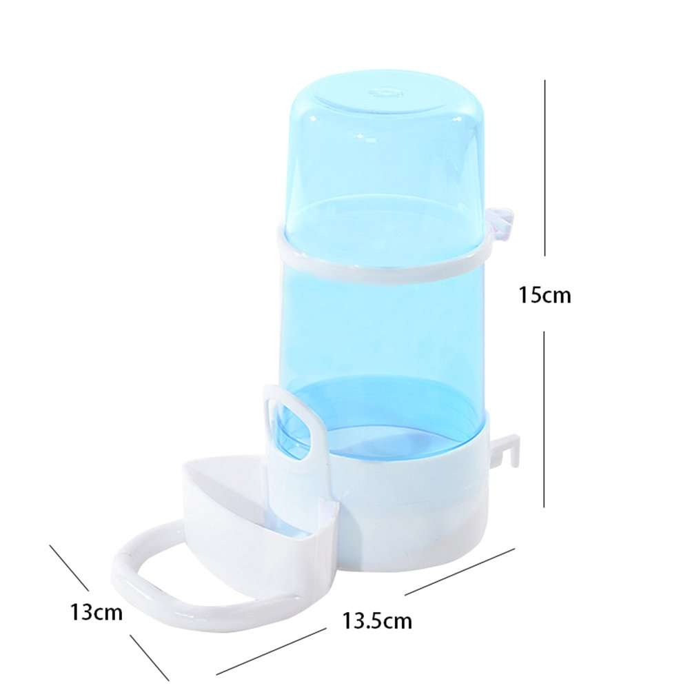 Small-Pet-Cat-Dog-Hamster-Water-Drinker-Dispenser-Food-Feeder-Dish-Bowl-Bottle azul