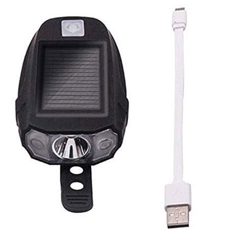 Cotini Lámpara de Bicicleta Solar USB Recargable LED luz de la luz ...