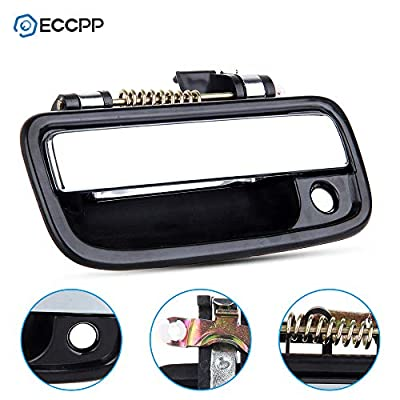 ECCPP Door Handles Exterior Outside Outer Front Driver Passenger Side for 1995-2004 Toyota Tacoma Chrome Black(2pcs): Automotive