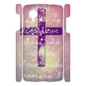 Canting_Good Jesus Christ cross and Bible verse Custom Case Shell Skin for Google Nexus 5 3D