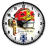 Cheap Santa Fe Chief Lighted Wall Clock