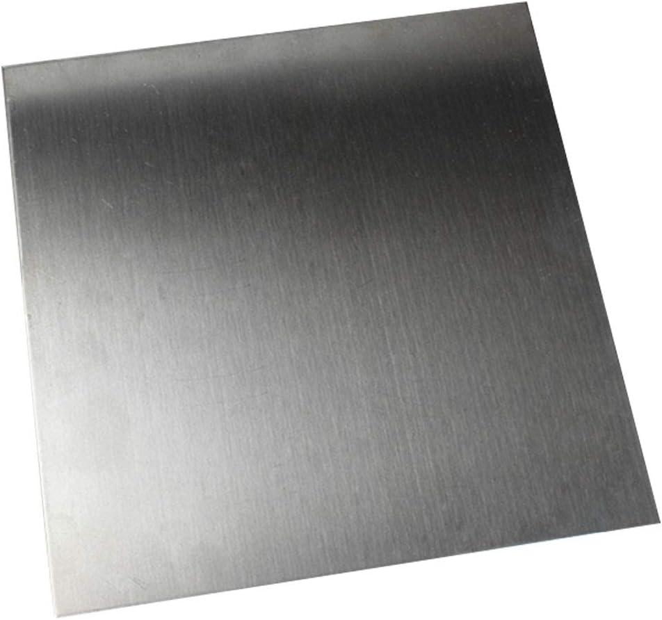 GYZD Chapa de Acero Inoxidable Chapa o Placa de Acero galvanizado 304 L/ámina De Acero Inoxidable Cepillado galvanizado Talla 200mm x 400mm x 0.5mm,200x400x0.5mm