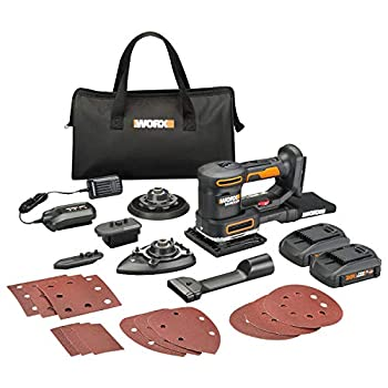 Image of Home Improvements WORX WX820L.2 20V 2.0Ah Cordless Multi-Purpose Sander with 2 Batteries and 1 Charger