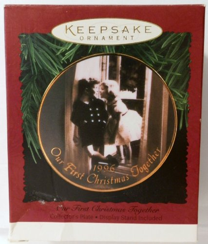 Hallmark Keepsake Ornament – Our First Christmas Together Plate Ornament 1996 (QX5801)