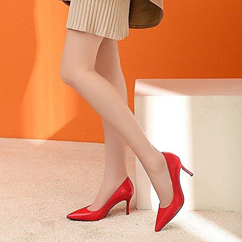 De Soirée Cuir Beige En Hauts Robe Chaussures Peu Red De Soirée Talons Noir Chaussures Rouge Travail Chaussures Femmes à Stiletto Profondes Pompes 4WUgng