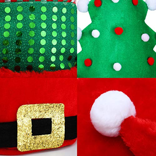 BBTO 4 Pieces Christmas Hats Santa Hat Novelty Christmas Tree Hat Traditional Xmas Santa Pant Hat Ho - http://coolthings.us