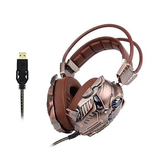 YFQH Auriculares,Tarjeta de Sonido 7.1 Auriculares para ...