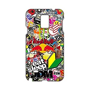 Angl 3D EAT SLEEP JDM Phone Case for Diy For SamSung Galaxy S4 Mini Case Cover