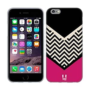 Houston Astros Iphone Case's Shop 4253011M99206731 Head Case Designs Black Colour Block Chevron Soft Gel Back Case Cover for Apple iPhone 6 4.7
