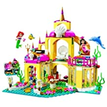 Friends Ariel's Undersea Palace Building Bricks Blocks Toys Girl Game House Gift Compatible with Lepin