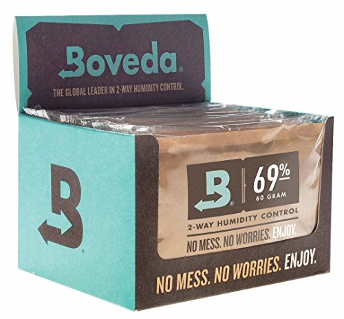 (Boveda 69-Percent RH Retail Cube Humidifier/Dehumidifier, 60gm, 12-Pack)