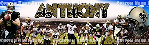 Personalized New Orleans Saints Banner Birthday Poster Custom Name Painting Wall Art Decor -