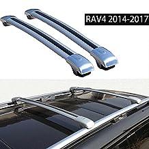 Fit for Toyota RAV4 2014-2017 Cross Bar Roof Racks Baggage Luggage Racks - Silver