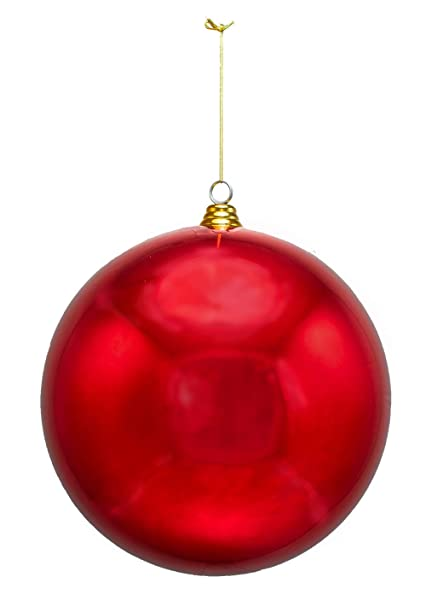 2 Large Shiny Red Christmas Ball Ornaments 12inch Two Oversize Decorative  Holiday Ball Ornaments - Amazon.com: 2 Large Shiny Red Christmas Ball Ornaments 12inch Two