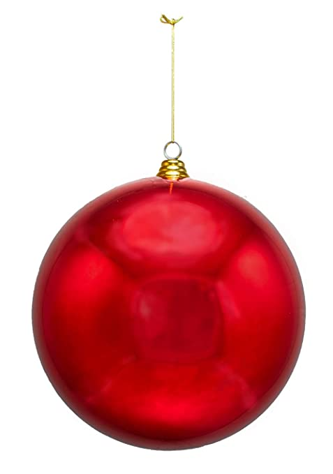 Ornaments Christmas.2 Large Shiny Red Christmas Ball Ornaments 12inch Two Oversize Decorative Holiday Ball Ornaments