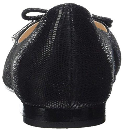 Caprice 221, Ballerines femme - Noir (Black Reptile), 38.5 EU (5.5 UK)