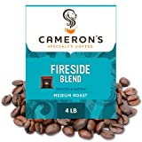 Cameron's Coffee Roasted Whole Bean Coffee, Fireside Blend, 4 Pound