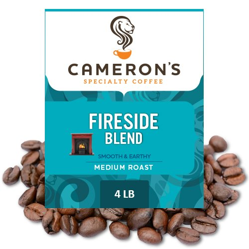 Cameron's Coffee Roasted Whole Bean Coffee, Fireside Blend, 4 Pound by Cameron's Coffee