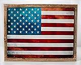 Framed United States Flag Metal Sign, Patriotism, USA, Vintage Sign, Rustic Decor