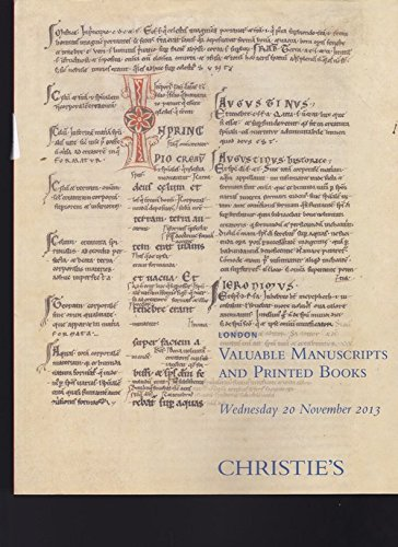 CHRISTIE'S LONDON VALUABLE MANUSCRIPTS AND PRINTED BOOKS 20 NOV. 2013 ebook
