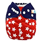 LBB(TM) Baby Resuable Washable Cloth Pocket Diaper,New Print Design for Thanksgiving Day,National Flag