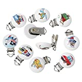 Best Funnytoday365 Pacifiers - Funnytoday365 Random 5Pcs Lot Wood Cute Transportation Pattern Review