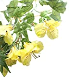 Glumes 1 Pcs Artificial Vines, Hanging Plants Silk Ivy Garlands Simulation Foliage Rattan Green Leaves Decorative Home Wall Garden Wedding Party Wreaths Decor