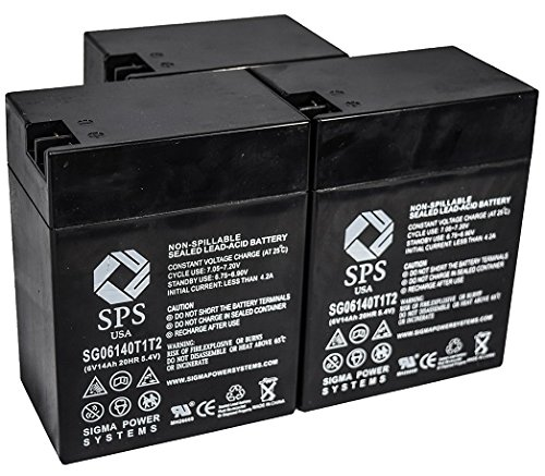SPS Brand 6V 14 Ah Terminal T1T2 Replacement Battery for Ohio Medical Products 504US Pulse OXIMETER (3 Pack)