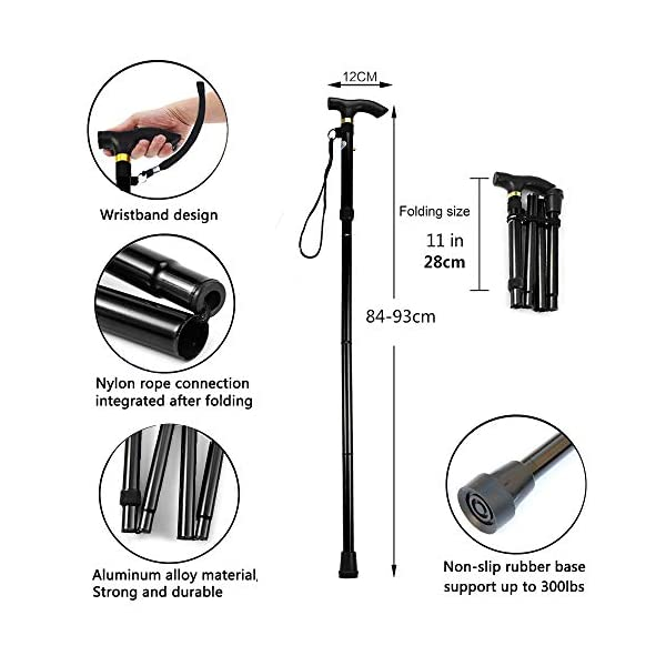 Evealyn-WalkingHikingTrekkingCamping-StickPoleCanes-Foldable-Collapsible-Portable-Lightweight-Adjustable-Hand-Walking-Cane-Mountaineering-Crutches-Outdoor-for-Men-Women-5