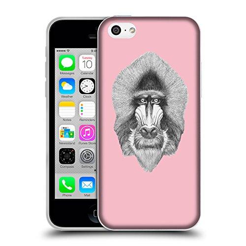 GoGoMobile Coque de Protection TPU Silicone Case pour // Q05400630 Portrait mandrill Rose // Apple iPhone 5C